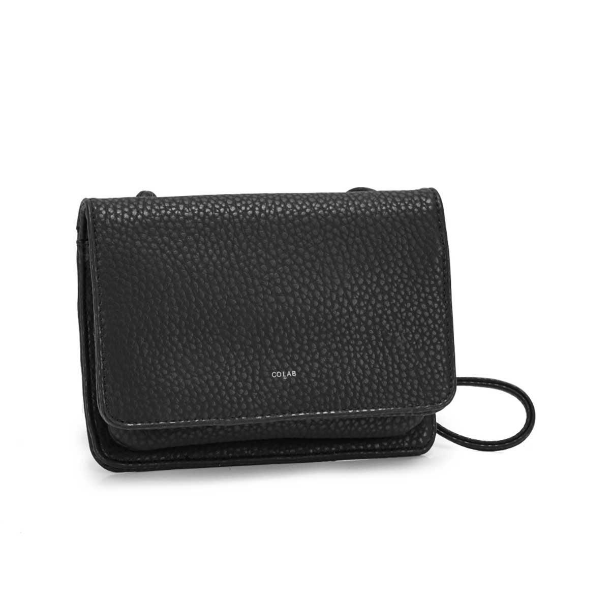 Lds Sydney Organizer blk crossbody bag