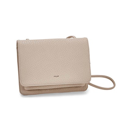 Co-Lab Women's SYDNEY organizer cream cross body bag