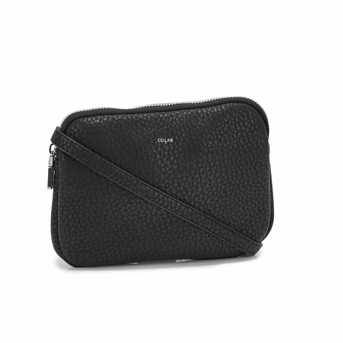 Women's SYDNEY cross body black zip up wallet