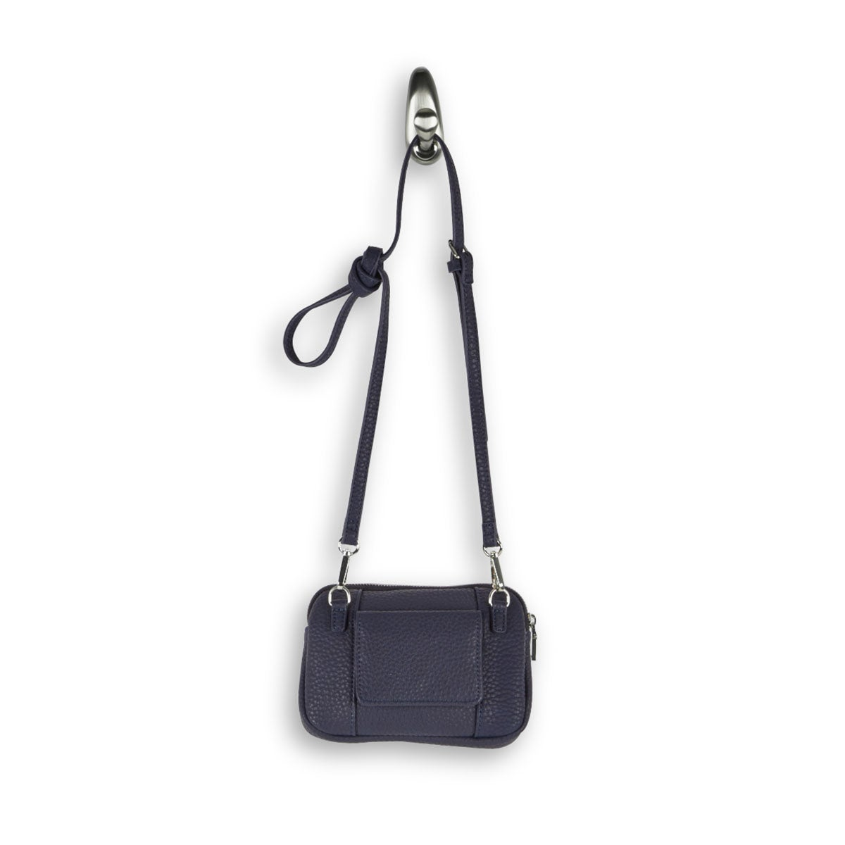 Lds Sydney Crossbody nvy zip up wallet
