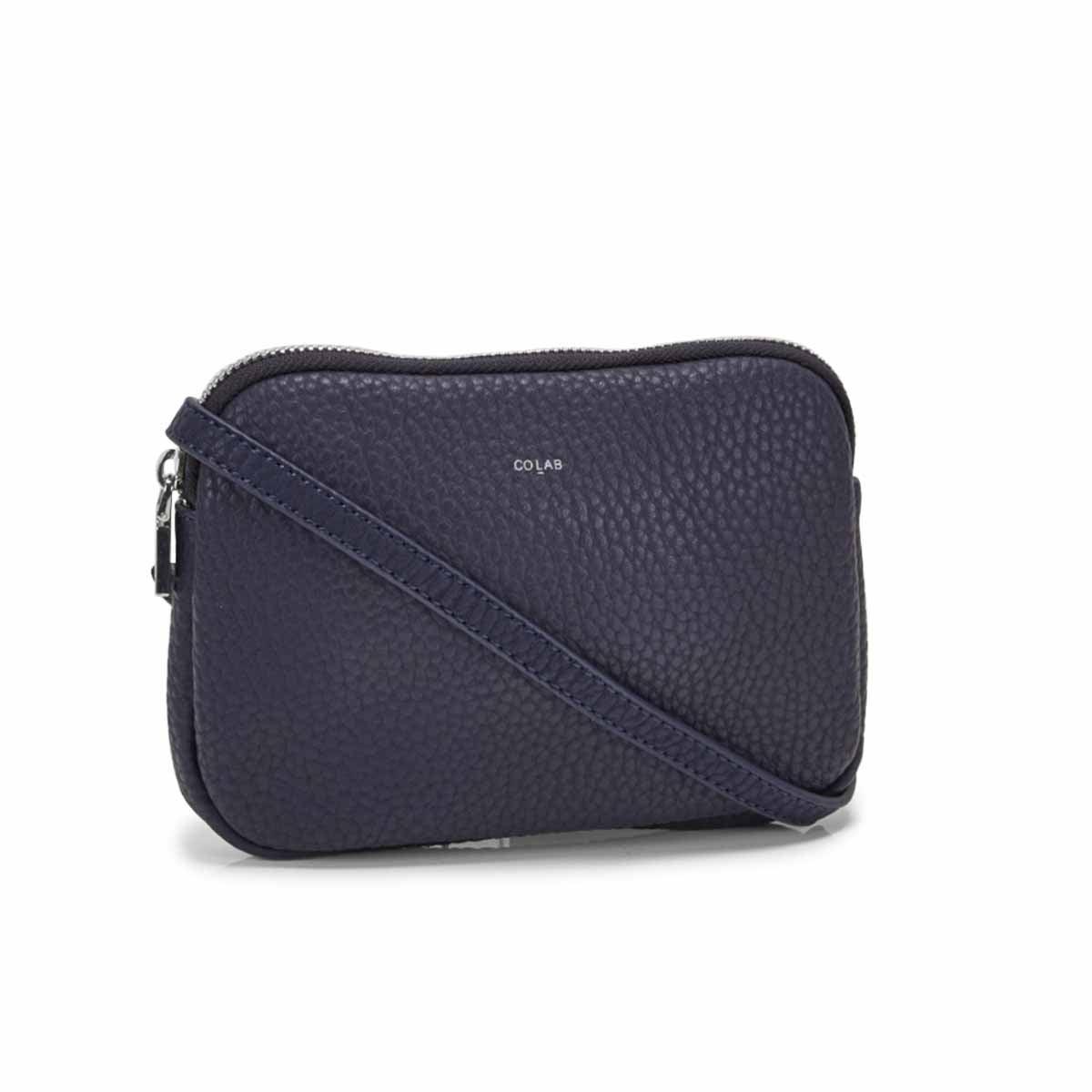 Women's SYDNEY cross body navy zip up wallet