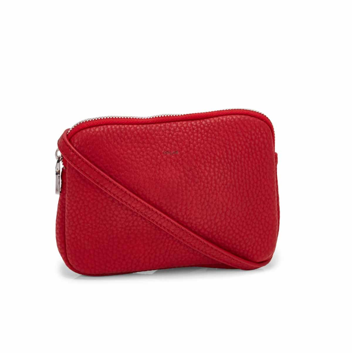 Lds Sydney Crossbody red zip up wallet