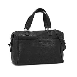 Lds black bowler shoulder bag