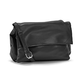 Co-Lab Women's HARLOW foldover black crossbody bag