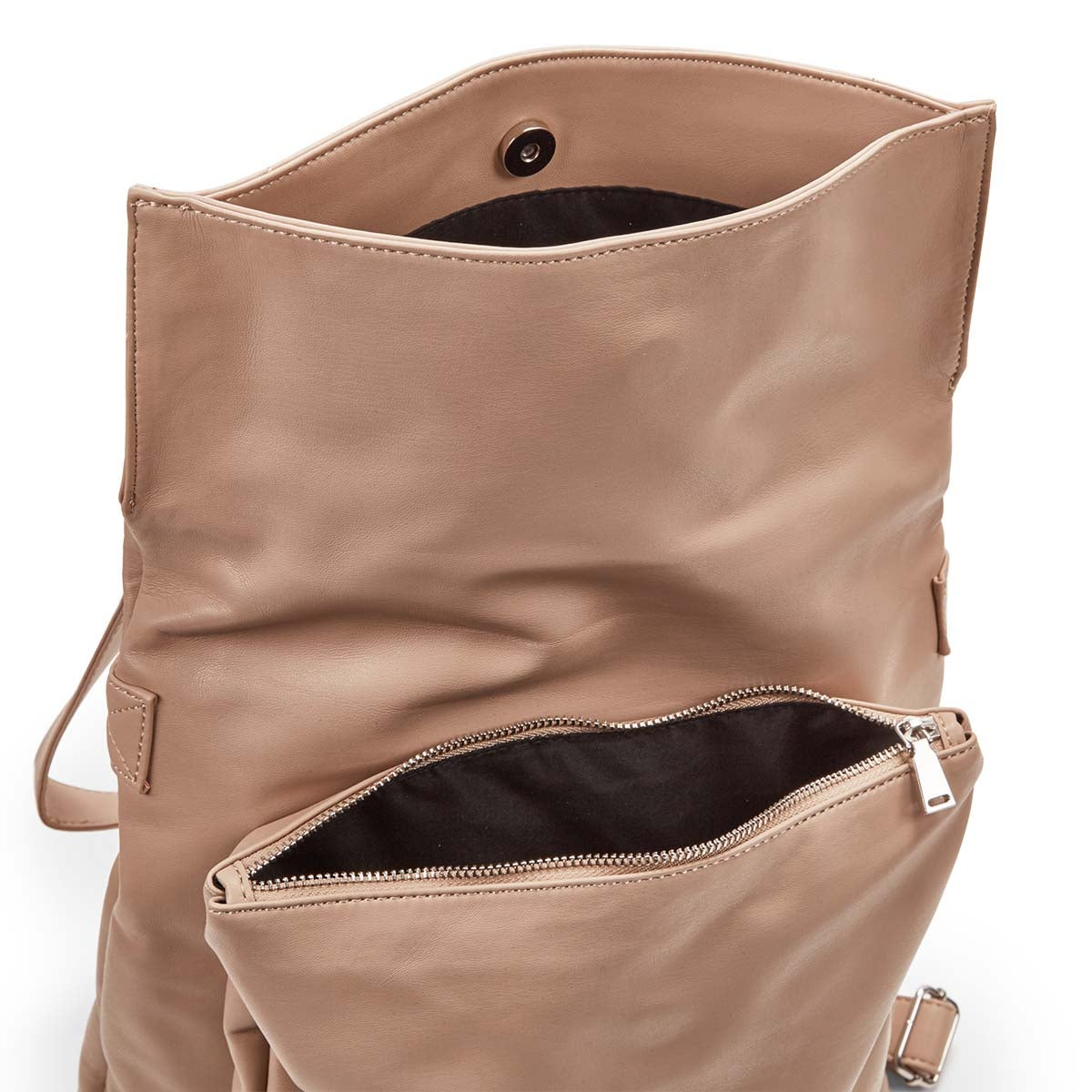 Lds Harlow Flap nude backpack