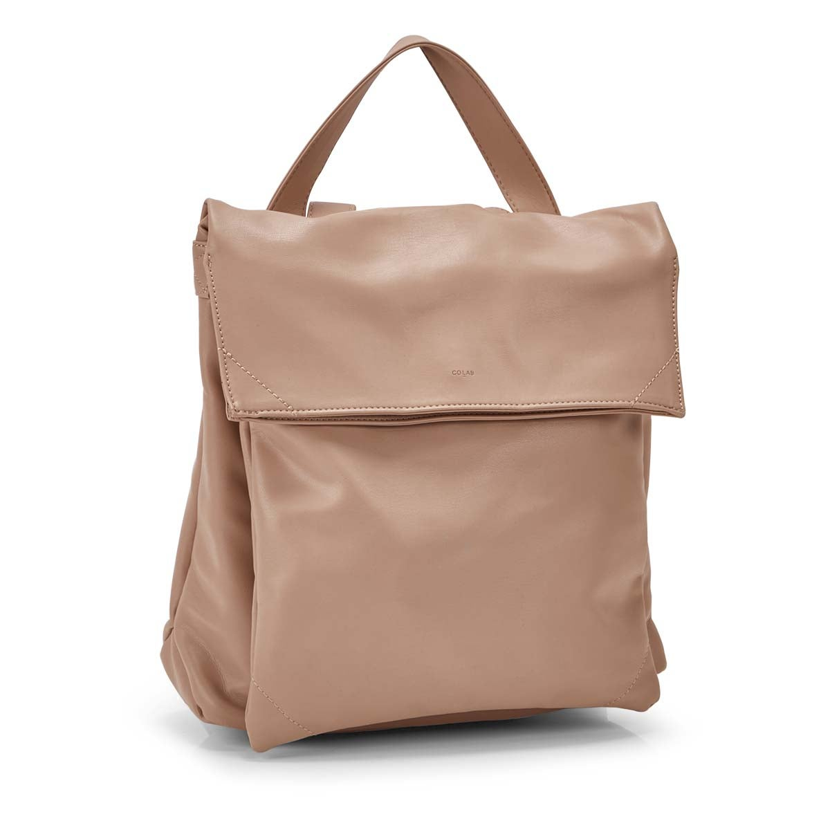 Women's HARLOW FLAP beige backpack