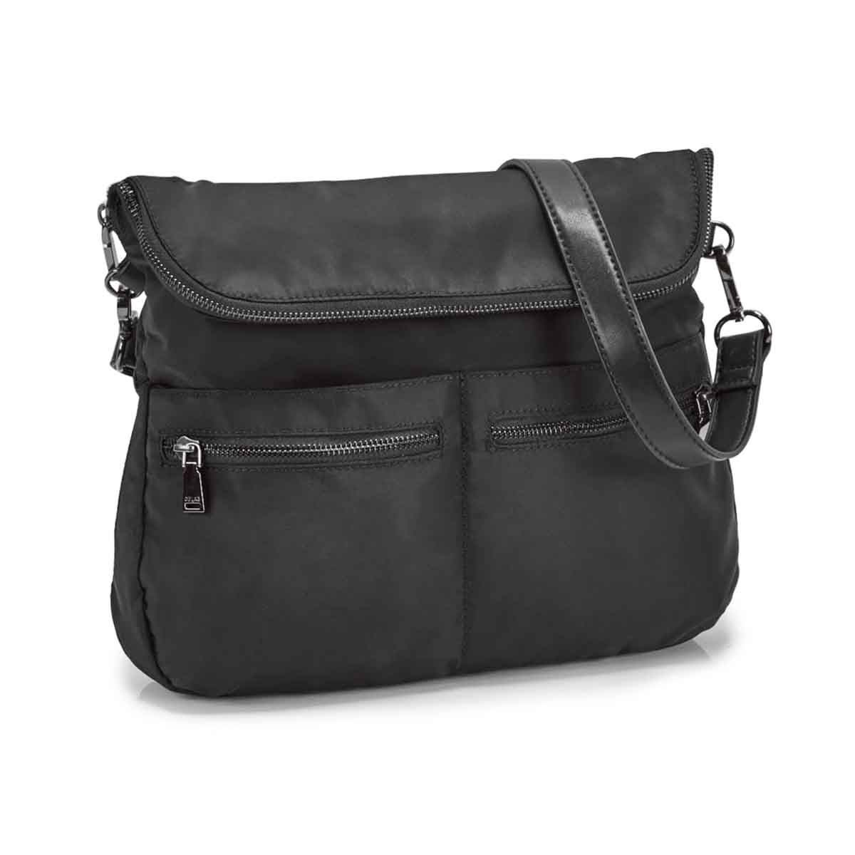 Lds Chelsea Messenger blk crossbody bag