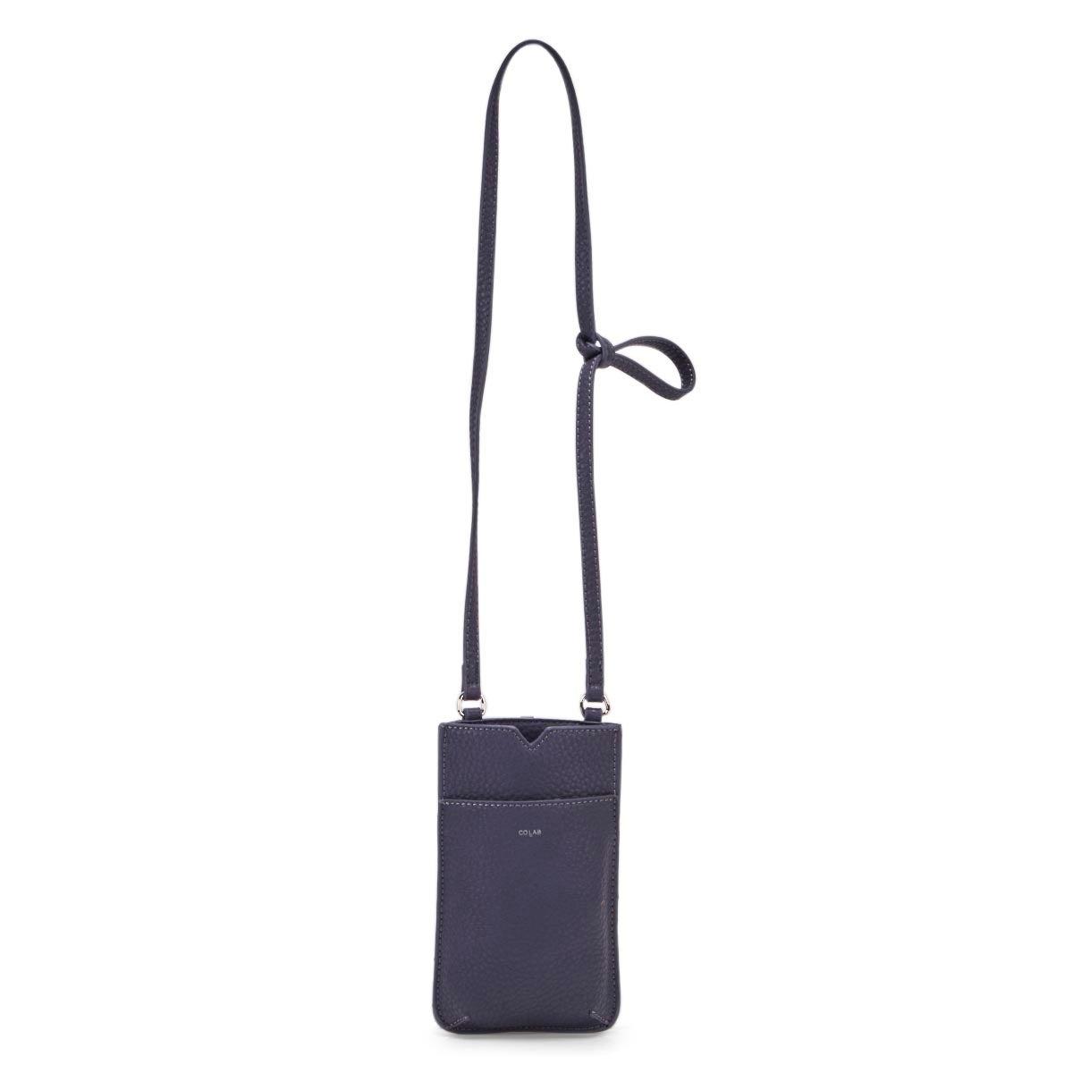 Lds denim cell-phone holder crossbody