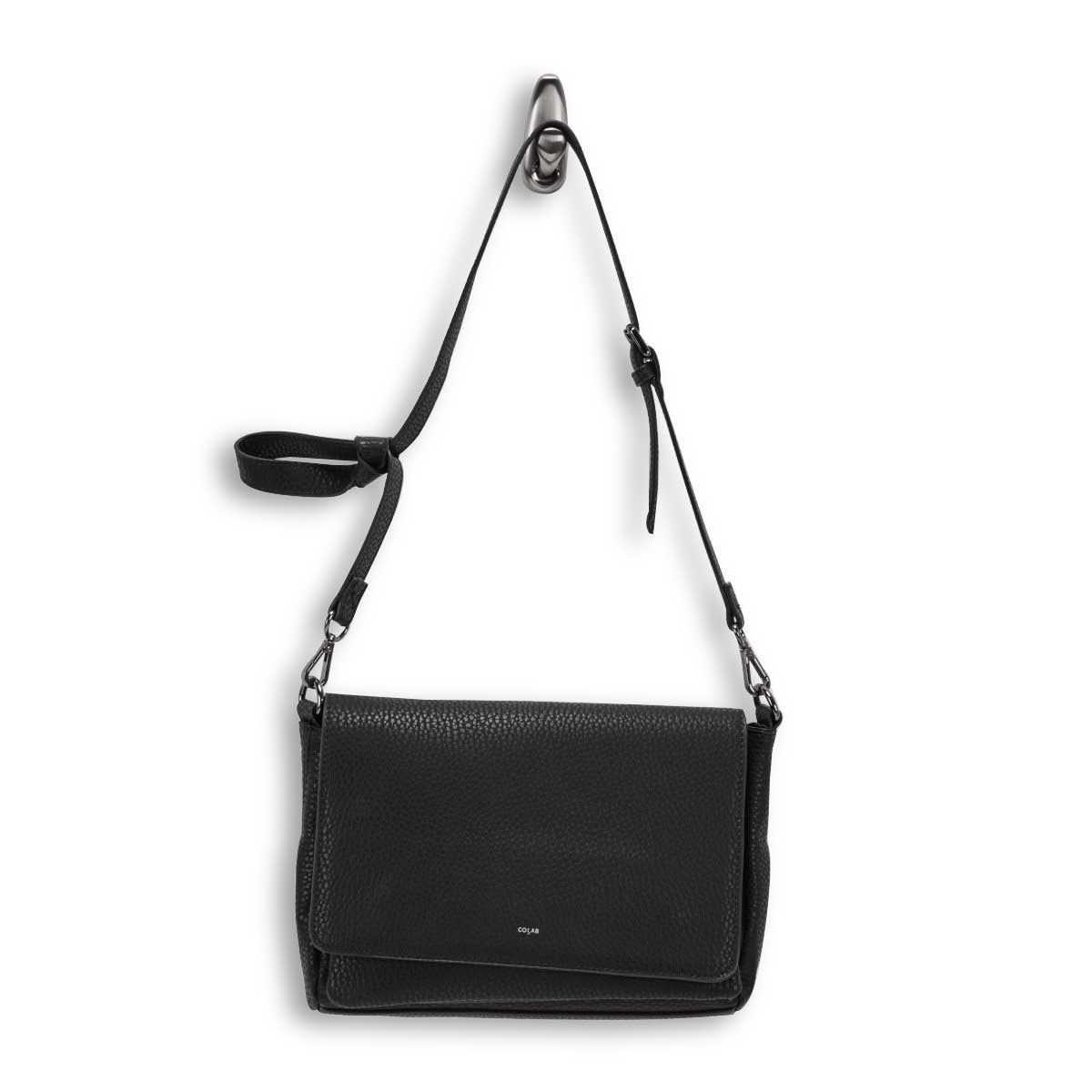Women's 6110 black messenger crossbody bag