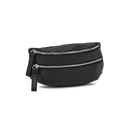Lds black washed vintage waist pouch