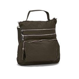 Lds khaki convertible messenger/backpack