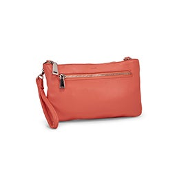 Co-Lab Women's ROCK & CHAIN coral crossbody bag
