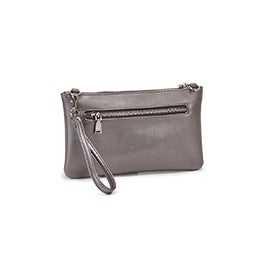 Co-Lab Women's ROCK & CHAIN pewter crossbody bag