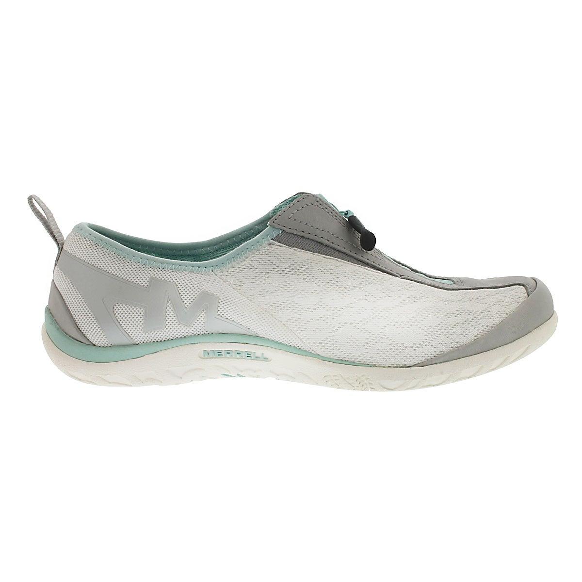 Lds Glitz Breeze white zipper slip on
