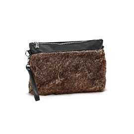 Lds black/brown clutch crossbody