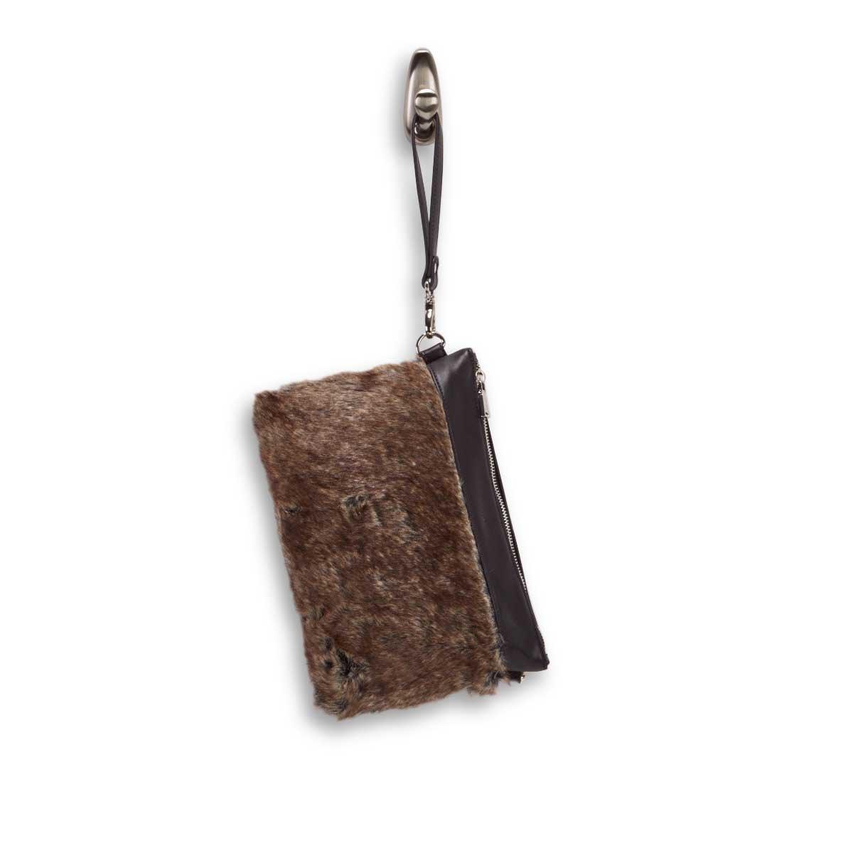 Lds black/brown clutch crossbody