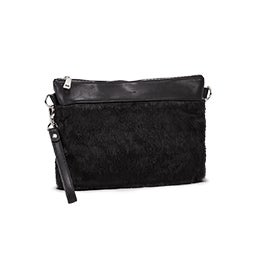 Lds black clutch crossbody