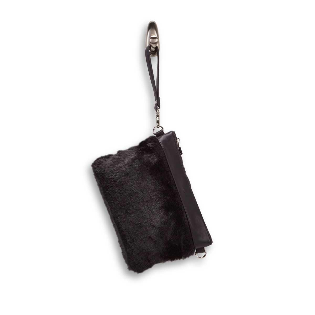 Lds black clutch crossbody