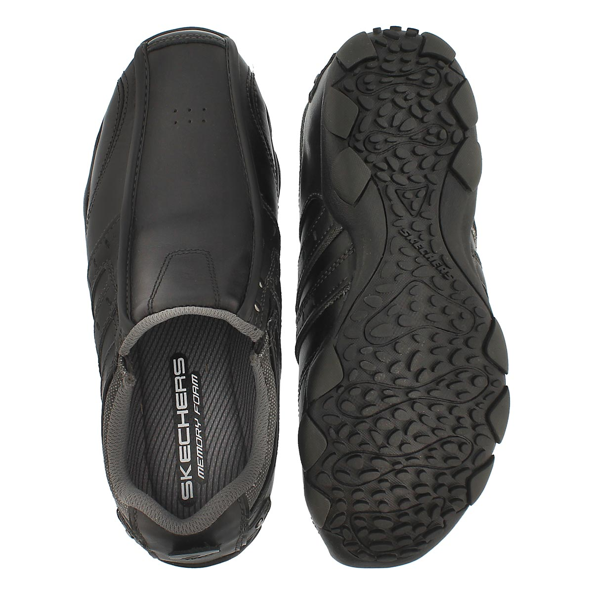 Mns Heisman black twin gore slip-on