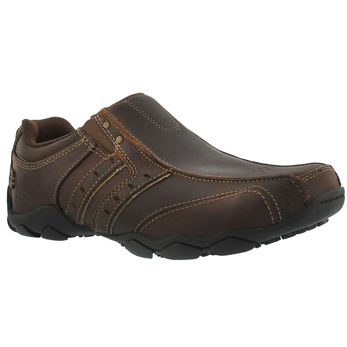 Mns Heisman dk brown twin gore slip-on