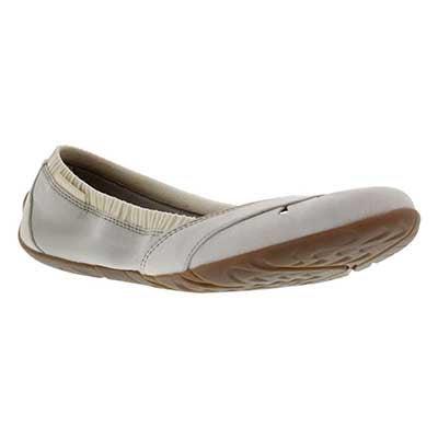 Lds Whirl Glove ivory slip on shoe