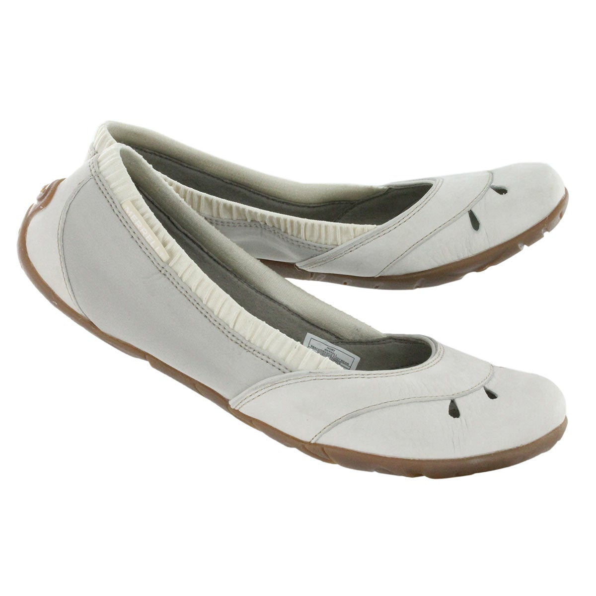 Lds Whirl Glove ivory slip on shoe