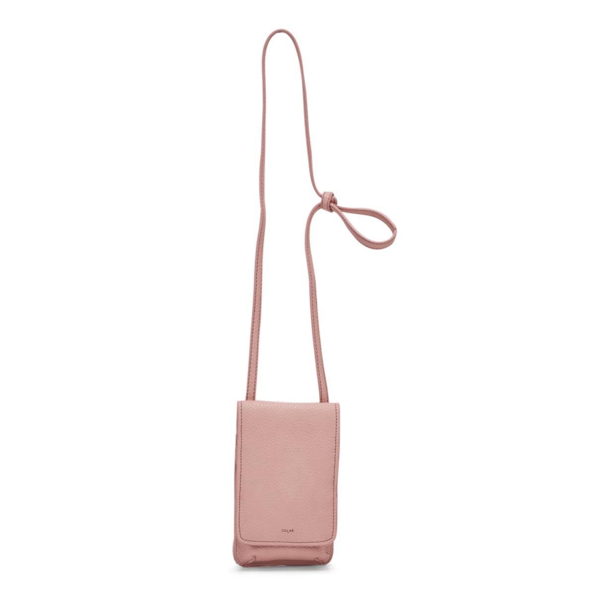 Lds cotton candy flap tech crossbody bag
