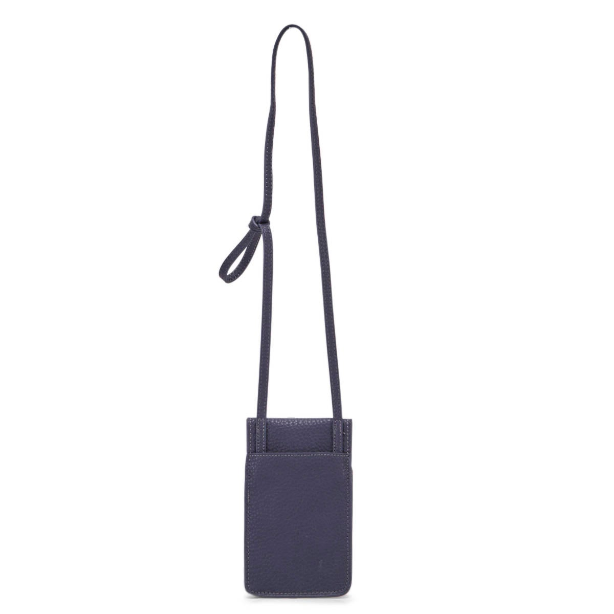 Lds denim flap tech crossbody bag