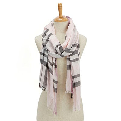Fraas Women's ESSENTIALS FRAAS PLAID light rose scarves