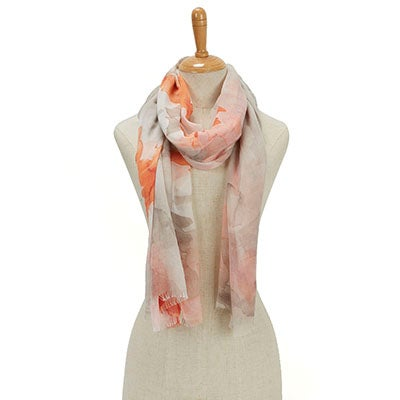 Fraas Women's PARADISE LOST TROPICAL FLORAL corl scarves