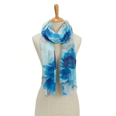 Fraas Women's PARADISE LOST TROPICAL FLORAL trq scarves