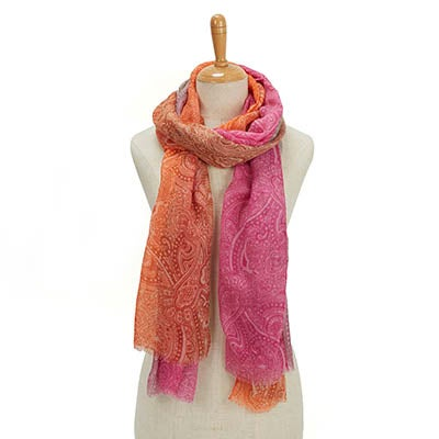 Lds Simple Transition Ombre pink scarf