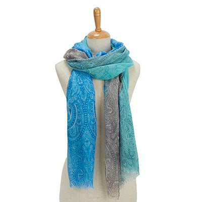 Fraas Women's SIMPLE TRANSITION OMBRE turquoise scarves