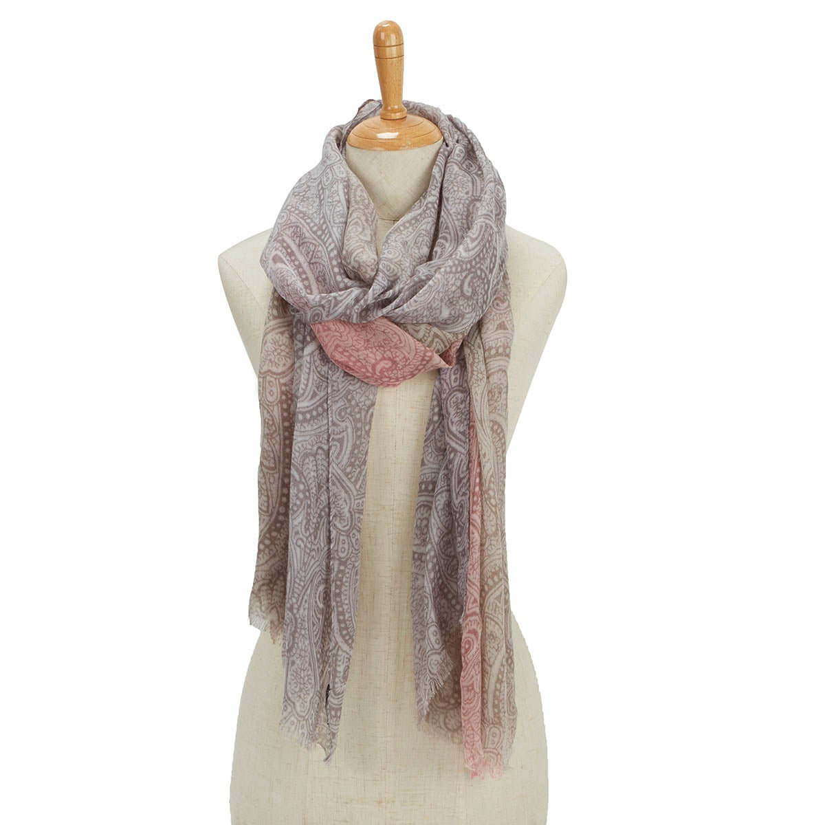 Lds Simple Transition Ombre lt gry scarf