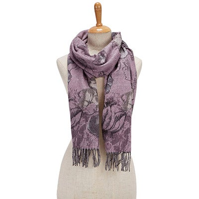 Fraas Women's ROMANTIC FLORAL light rose scarves