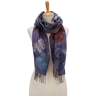 Fraas Women's ROMANTIC FLORAL denim scarves