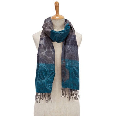Lds Romantic Floral grey scarf
