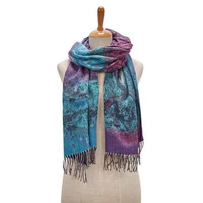 Lds Paisley Road denim scarf