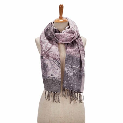 Lds Paisley Road light grey scarf