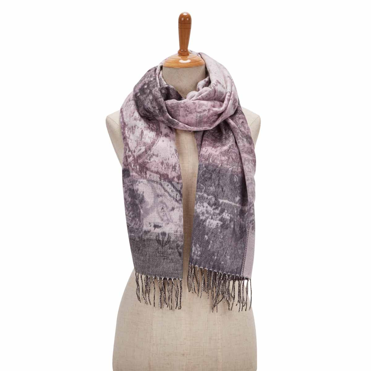 Women's PAISLEY ROAD light grey scarf