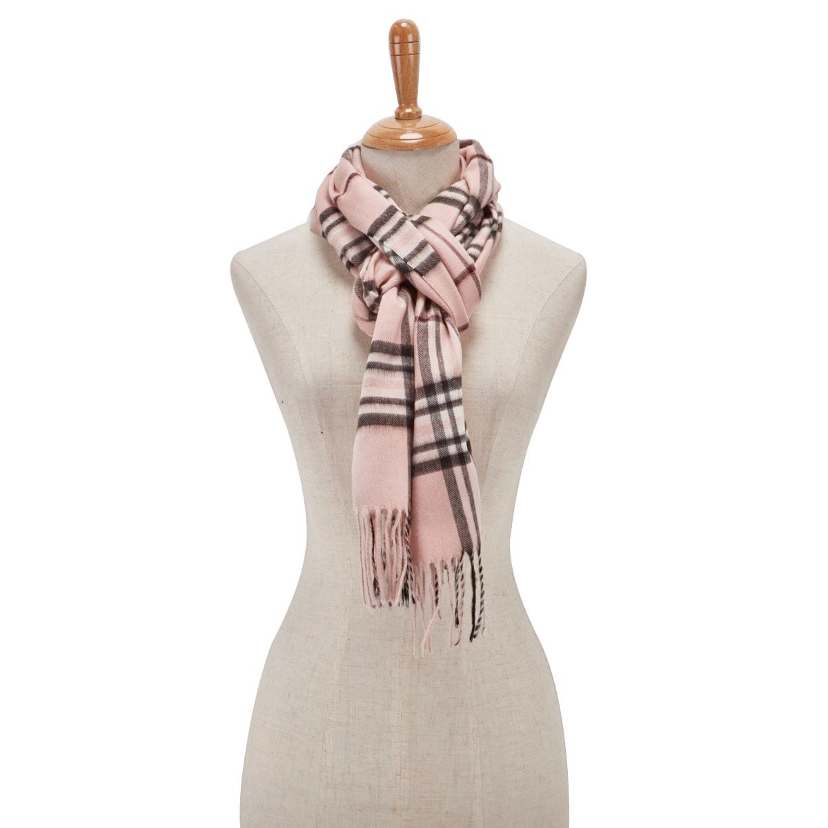 Lds Fraas Plaid light rose scarf