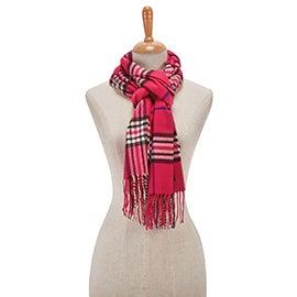 Lds Fraas Plaid fuchsia scarf