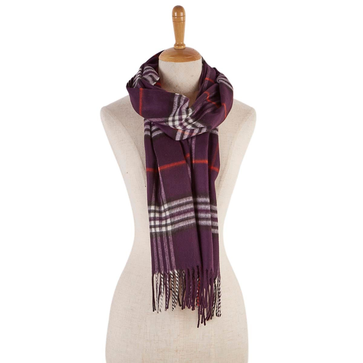 Lds Fraas Plaid plum scarf