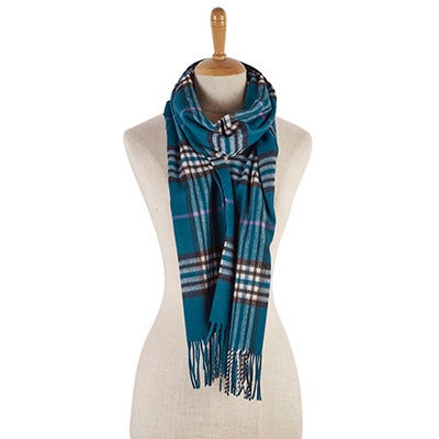 Lds Fraas Plaid petrol scarf