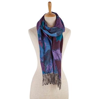 Lds Mirage plum scarf