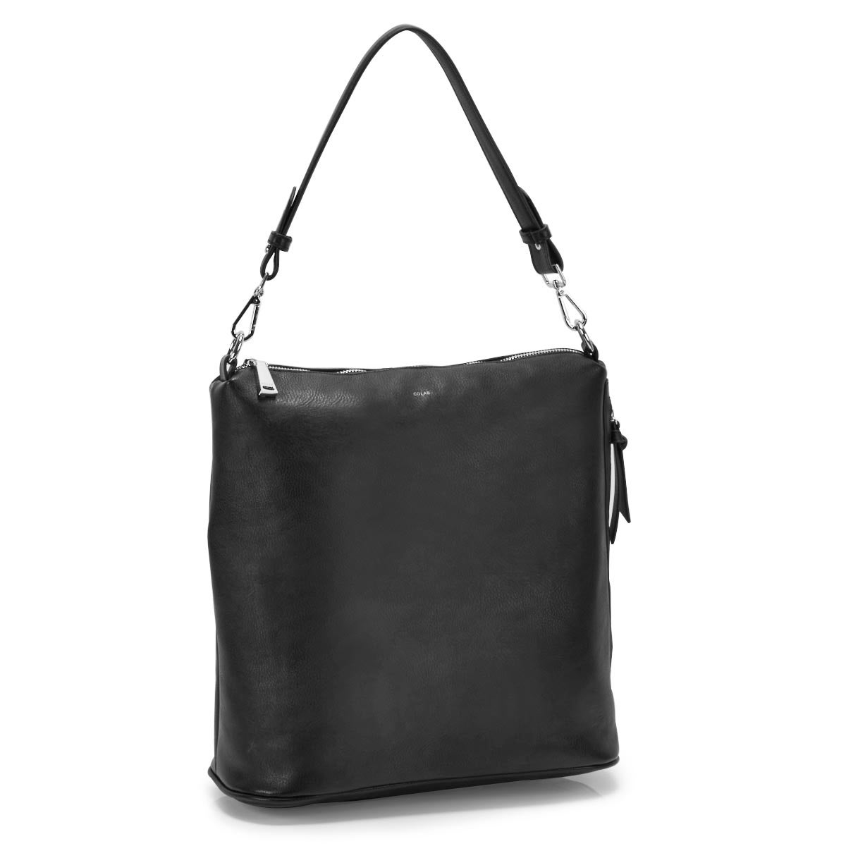 Lds black convertible hobo bag
