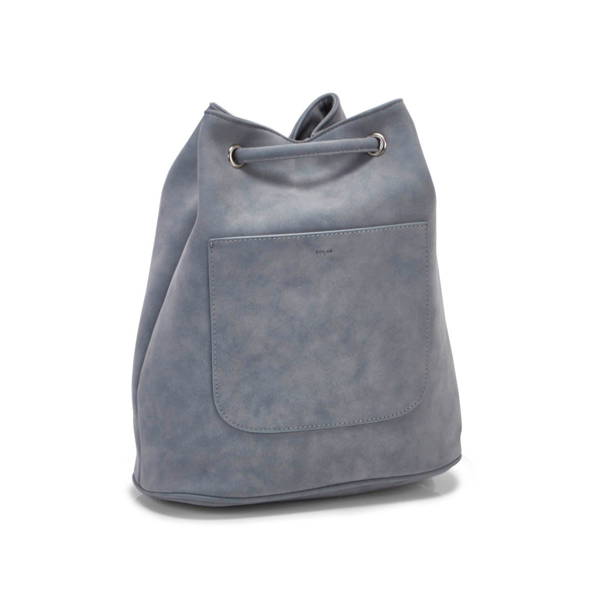 Lds mist blue drawstring backpack