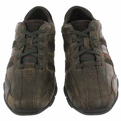 Skechers Men's DIAMETER VASSELL choc leather lace up shoes