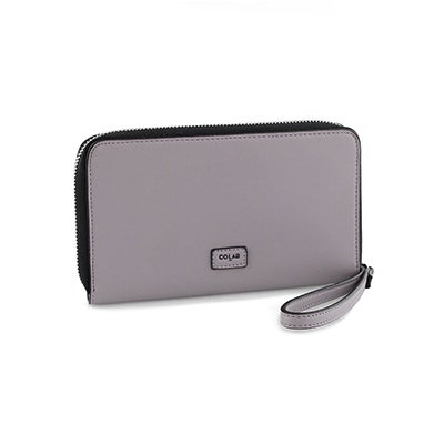 Co-Lab Lds dusky mauve zip up phone wallet