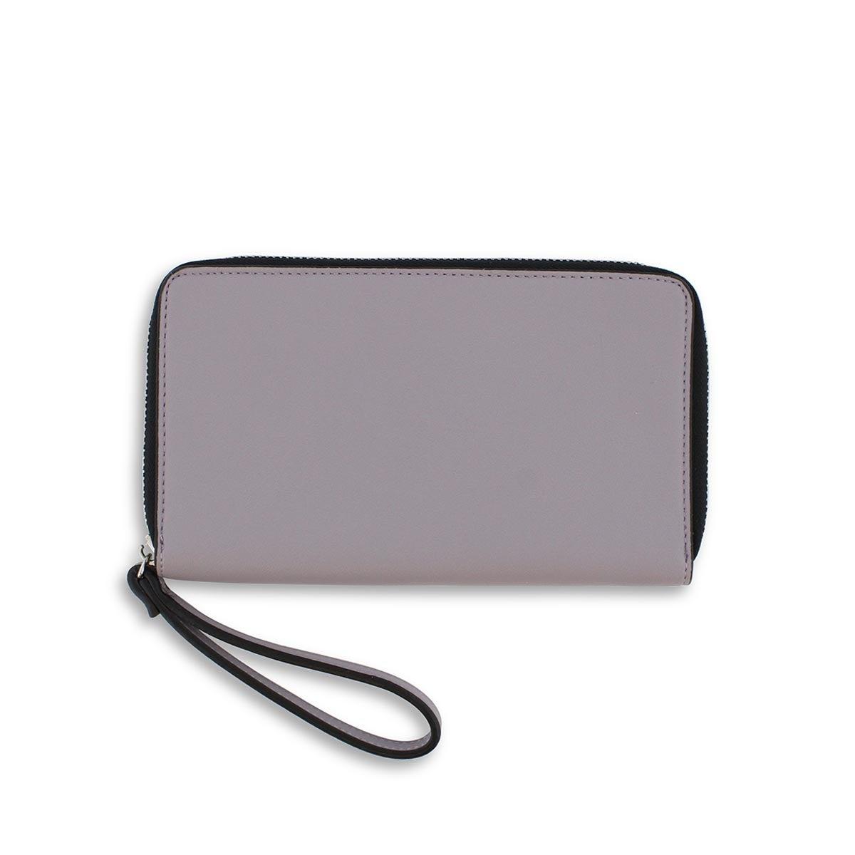 Lds dusty mauve zip up phone wallet